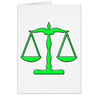 échelles d'oddRex de justice Cartes De Vœux