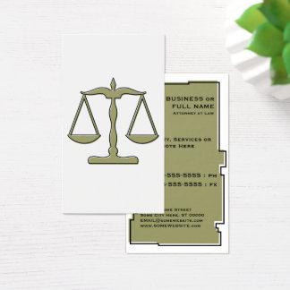 échelles d'oddRex de justice Cartes De Visite
