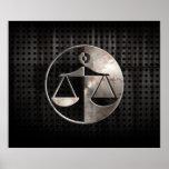 Échelles rocailleuses de justice poster