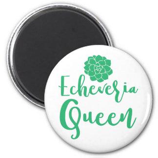 echevaria queen 2 inch round magnet