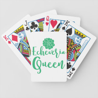 echevaria queen bicycle playing cards