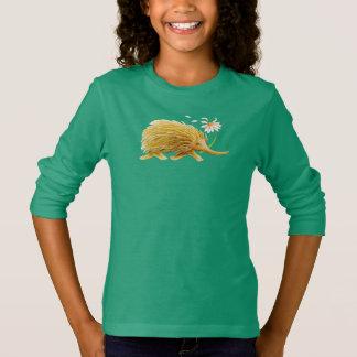Echidna whimsical watercolor woodland animal art T-Shirt