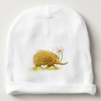 Echidnas whimsy watercolor custom baby hat baby beanie