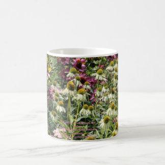 Echinacea!  Coneflowers, Red Sedum Coffee Mug