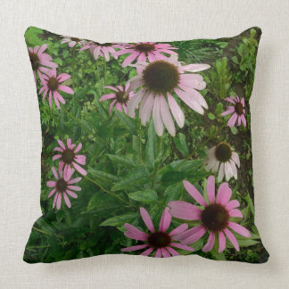 Echinacea Explosion From Above Throw Pillow