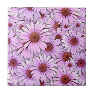 Echinaceas Everywhere Tile