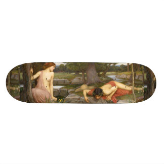 Echo and Narcissus by John William Waterhouse Skate Board Deck