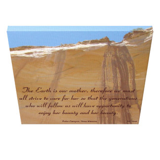 Echo Canyon, New Mexico Tribute to Mother Earth Canvas Print