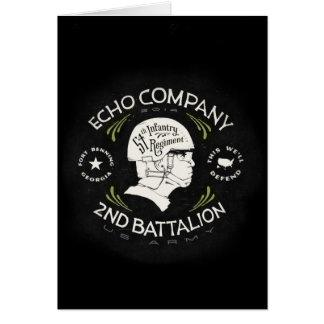 Echo Company 2nd Battalion 54th Infantry Regiment Greeting Card