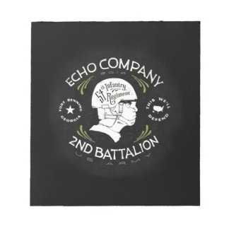 Echo Company 2nd Battalion 54th Infantry Regiment Notepads
