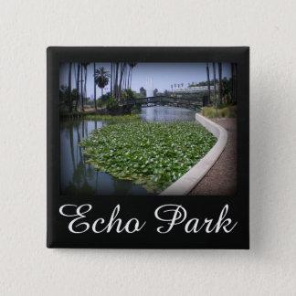 Echo Park Lake in Los Angeles, California 2 Inch Square Button