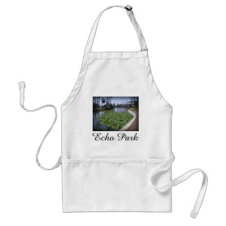 Echo Park Lake in Los Angeles, California Standard Apron