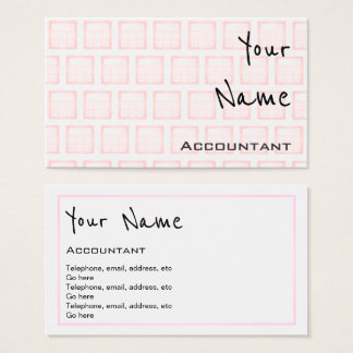 """""""Echoes"""" Accountant Business Cards"""