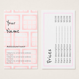 """""""Echoes"""" Accountant Price Cards"""