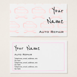 """""""Echoes"""" Auto Repair Business Cards"""