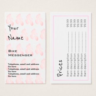 """""""Echoes"""" Bike Messenger Price Cards"""
