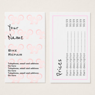 """Echoes"" Bike Repair Price Cards"