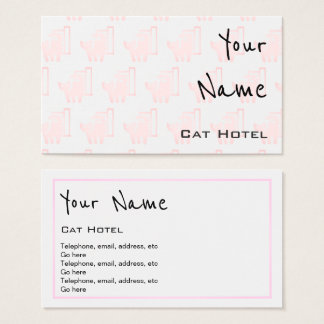 """Echoes"" Cat Hotel Business Cards"