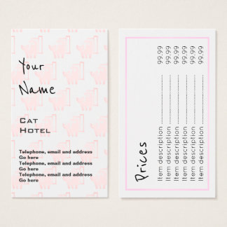 """Echoes"" Cat Hotel Price Cards"