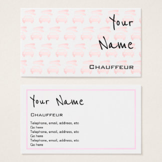"""""""Echoes"""" Chauffeur Business Cards"""