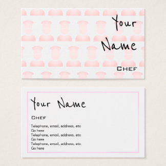 """""""Echoes"""" Chef Business Cards"""