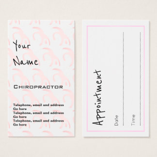 """Echoes"" Chiropractor Appointment Cards"