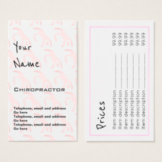"""""""Echoes"""" Chiropractor Price Cards"""