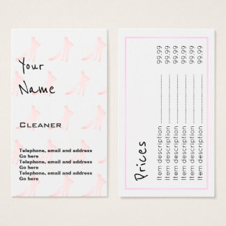 """""""Echoes"""" Cleaner Price Cards"""