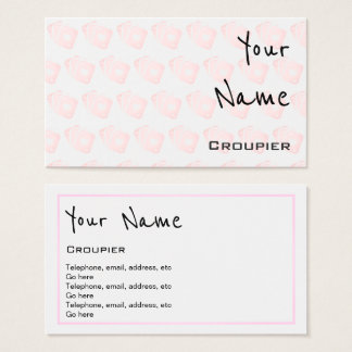 """""""Echoes"""" Croupier Business Cards"""