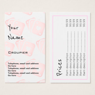 """""""Echoes"""" Croupier Price Cards"""