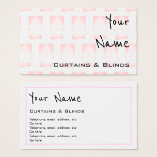 """Echoes"" Curtains and Blinds Business Cards"