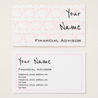 """Echoes"" Financial Advisor Business Cards"