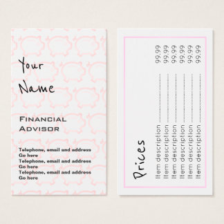 """Echoes"" Financial Advisor Price Cards"