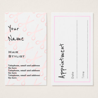 """""""Echoes"""" Hair Stylist Appointment Cards"""
