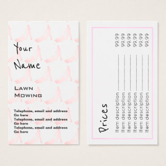 """""""Echoes"""" Lawn Mowing Price Cards"""