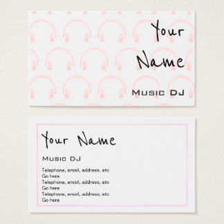 """""""Echoes"""" Music DJ Business Cards"""