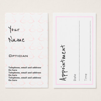 """Echoes"" Optician Appointment Cards"