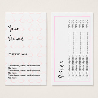 """Echoes"" Optician Price Cards"