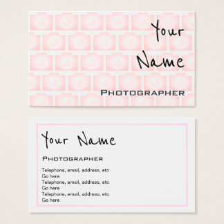 """""""Echoes"""" Photographer Business Cards"""