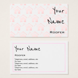"""Echoes"" Roofer Business Cards"
