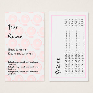 """""""Echoes"""" Security Consultant Price Cards"""