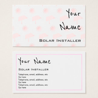 """Echoes"" Solar Business Cards"