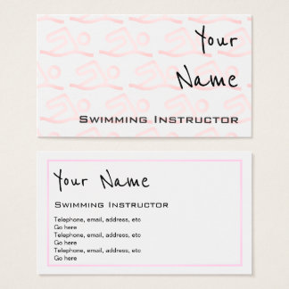 """Echoes"" Swimming Instructor Business Cards"
