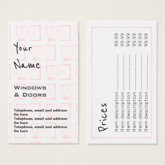 """Echoes"" Windows and Doors Price Cards"