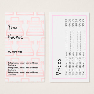"""""""Echoes"""" Writer Price Cards"""