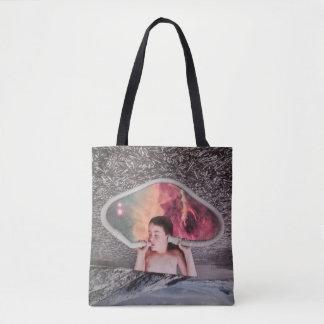 'Echolalia' Collage Art Tote Bag