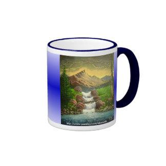 Éclaboussure de flanc de montagne personnalisable tasse