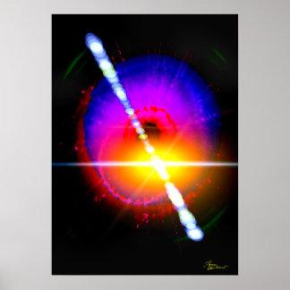 Éclat de rayon gamma affiche