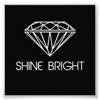 Éclat lumineux comme un diamant impressions photo