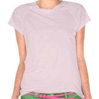 éclat rose de lueur d'étincelle de fleurs heureux t-shirt